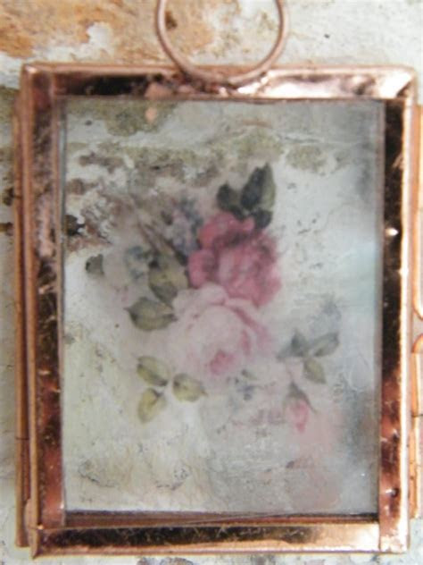 Mini hanging pressed flower frame empty   Dried flowers shop