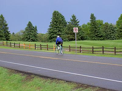 Biker at Gem Lake  May 2005