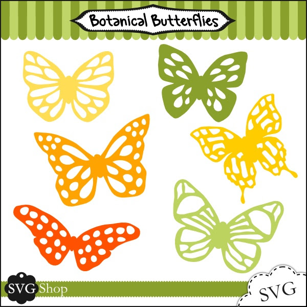 Botanical Butterflies SVG Set