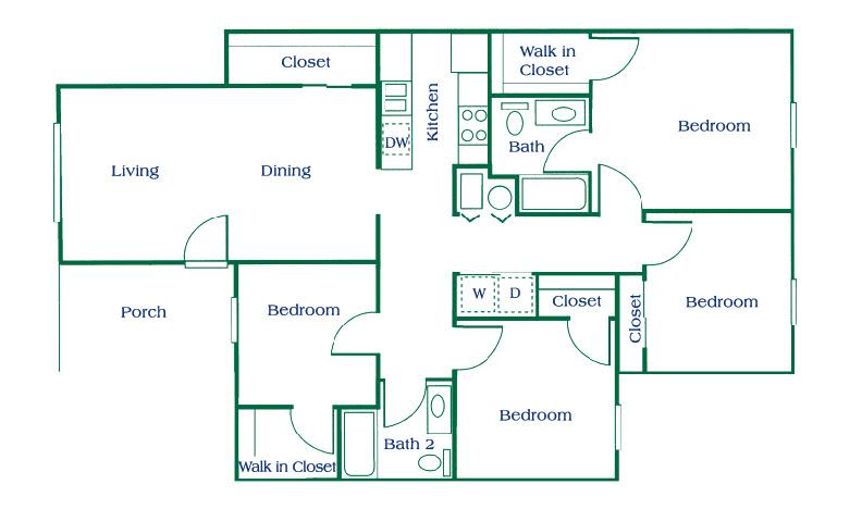 Columbus Apartments   Floor Plans