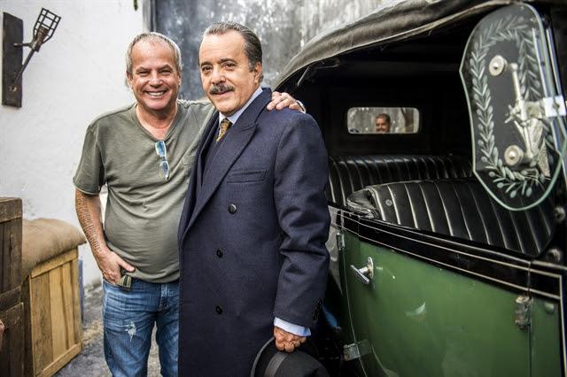 Jayme Montardim, diretor artístico de 'Tempo de Amar', e Tony Ramos como José Augusto (Foto: Globo/João Miguel Júnior)