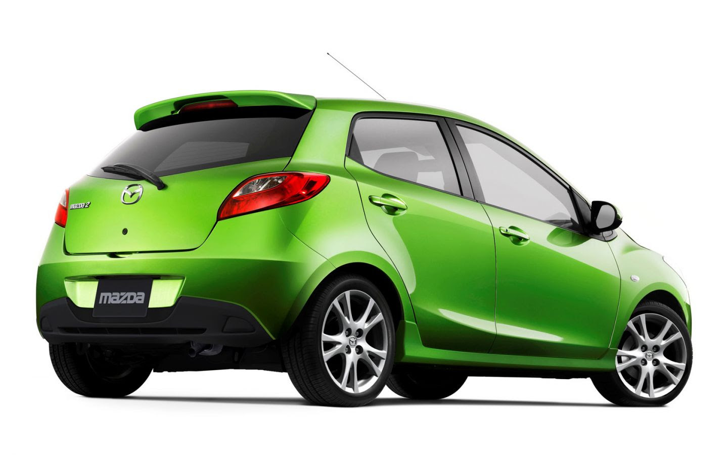 Mazda 2 Lime Green Rear Low