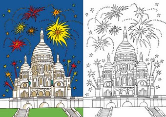 【Top 100】 Coloriage Monuments De Paris