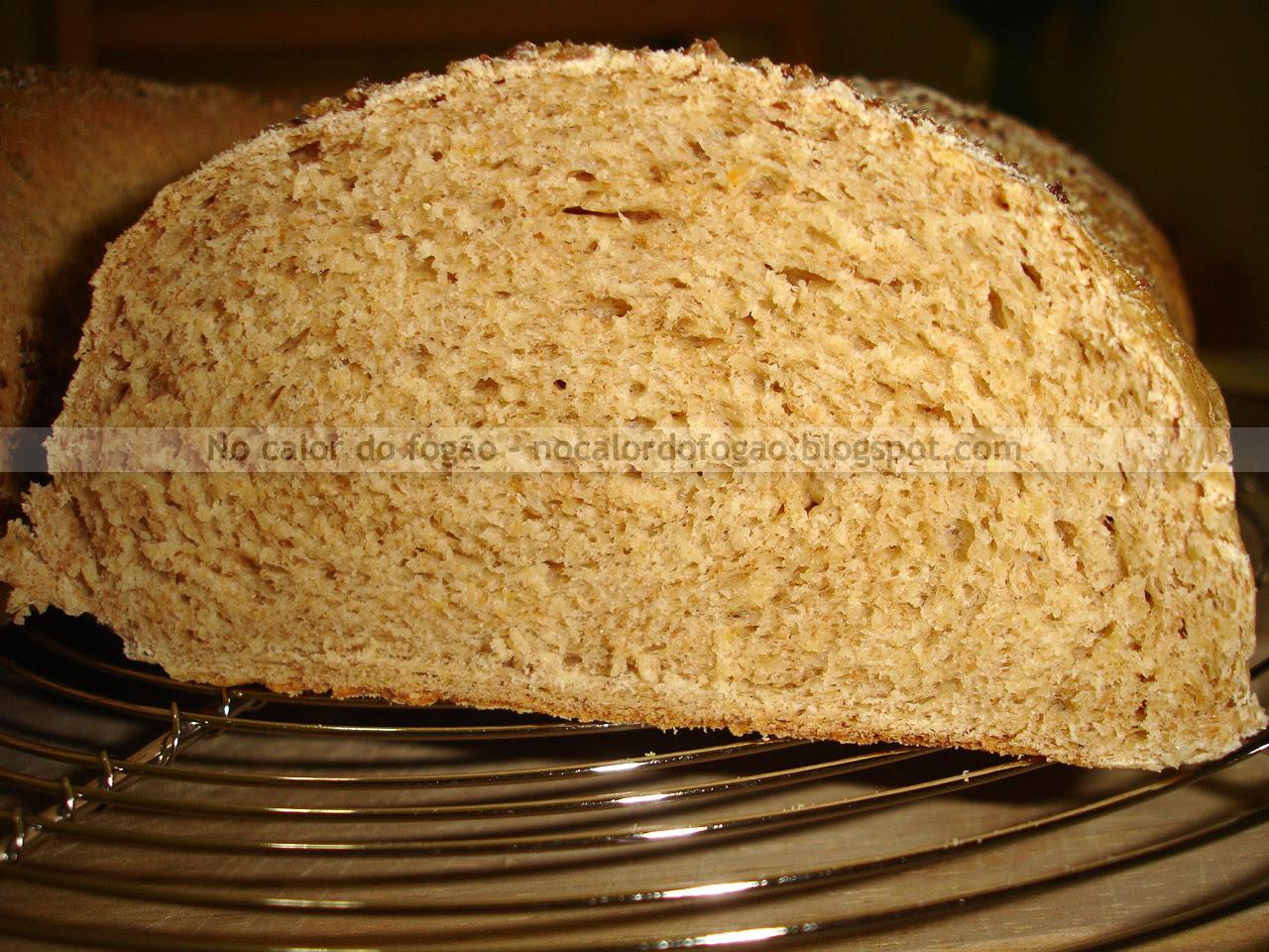Pão integral cortado
