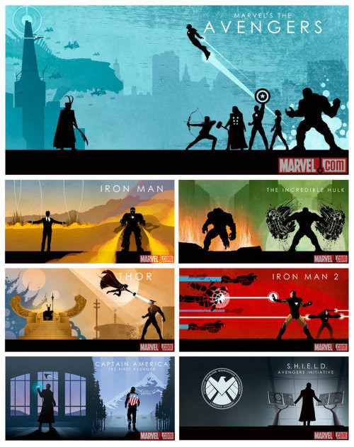 Marvel Cinematic Universe Box Set Art by Cakes-and-Comics