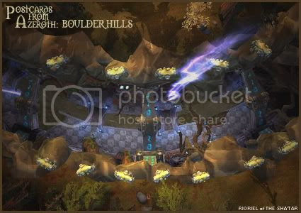 Postcards of Azeroth: Boulder Hills, by Rioriel Ail'thera