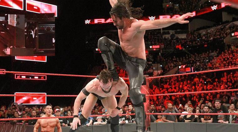 Image result for seth rollins curb stomp finn balor