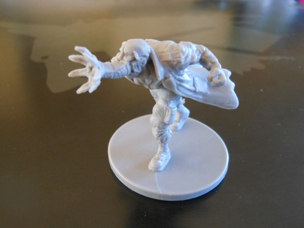 Close up of one of the Fireteam Zero infested bait bag minions miniatures.
