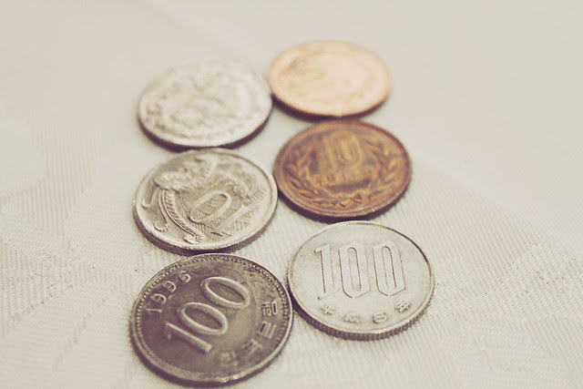 Coins in different currencies!