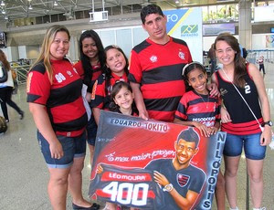 quadro família Leo Moura 400 jogos (Foto: Janir Júnior / Globoesporte.com)