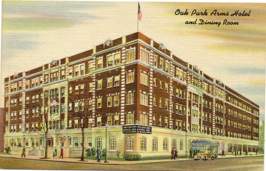 Amazon.com : 1950s Vintage Postcard - Oak Park Arms Hotel and ...