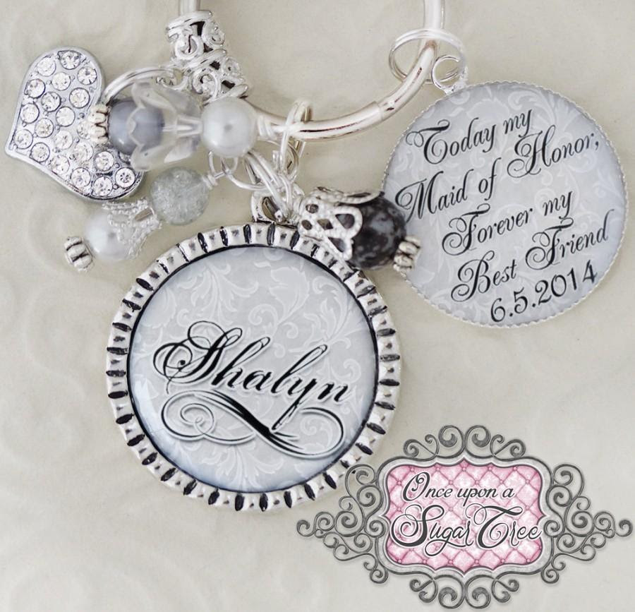Maid Of Honor Gift Wedding Key Chain Or Necklace Inspirational