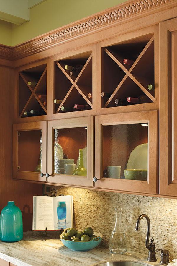Wine Storage Cabinet - Schrock Cabinetry
