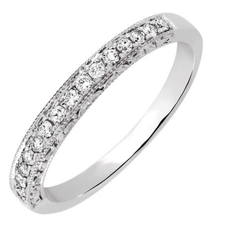Wedding Band with 0.18 Carat TW of Diamonds in 14ct White Gold