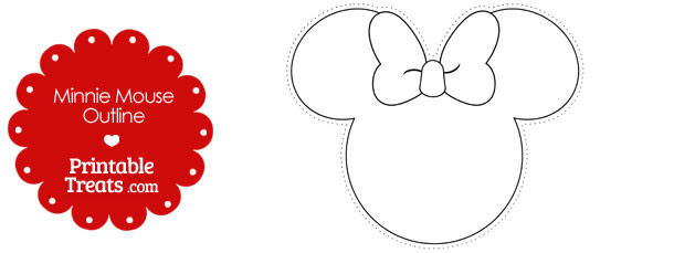 free printable minnie mouse outline 610x229