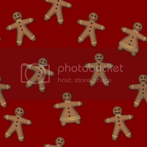 Christmas gingerbread repeating tile blog background graphic