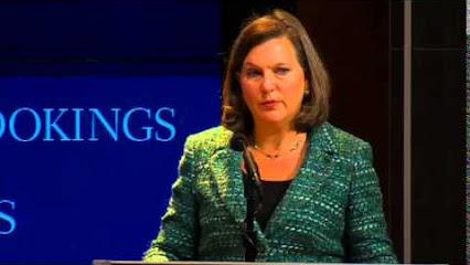 Victoria Nuland államtitkár a Brookings Intézetben