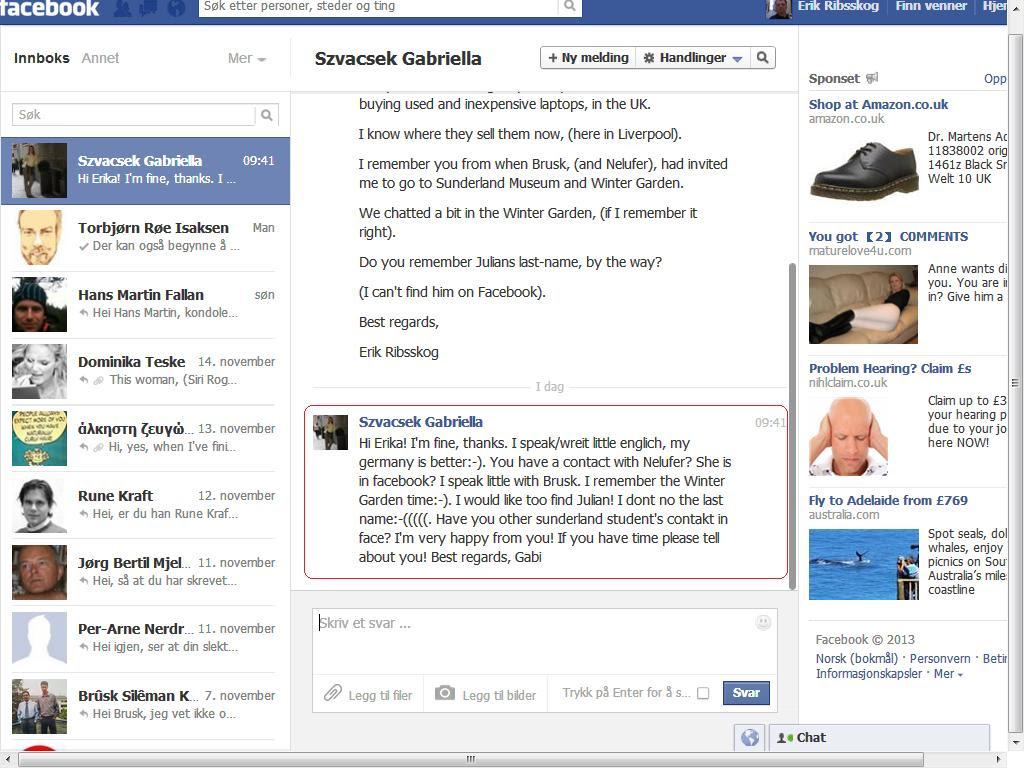 rapportere facebook