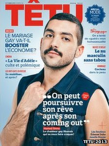 Hamed Sinno on the cover of Tetu