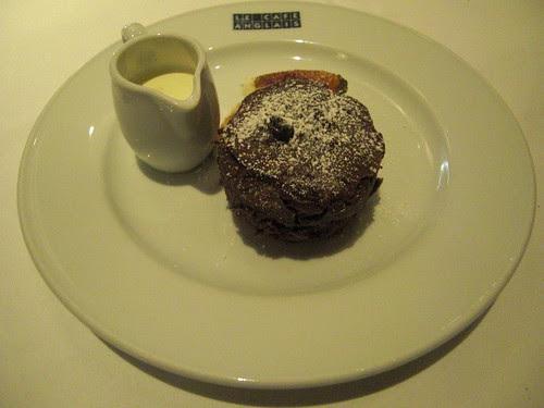 Chocolate and banana bread pudding