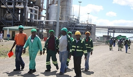 Chisumbanje Ethanol plant re-opened in Zimbabwe on March 25, 2013. The Southern African nation has a policy of indigenization and Look East. by Pan-African News Wire File Photos