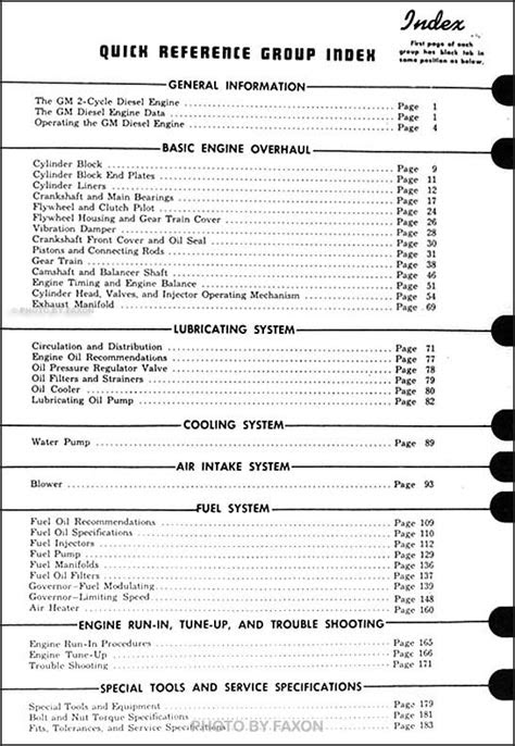 1953-1954 GMC Diesel Engine Repair Shop Manual Original