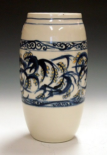Porcelain Vase Swirls and Buds