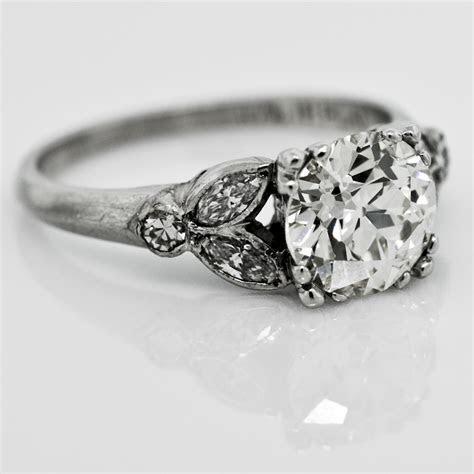 Vintage Old European Cut Diamond 1940 Ring