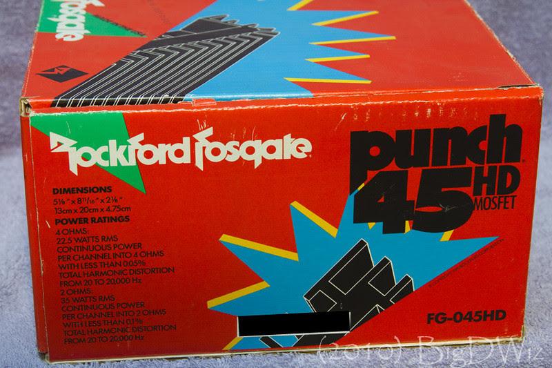Rockford Fosgate Punch 45 Hd Old School Car Amplifier Amplficador