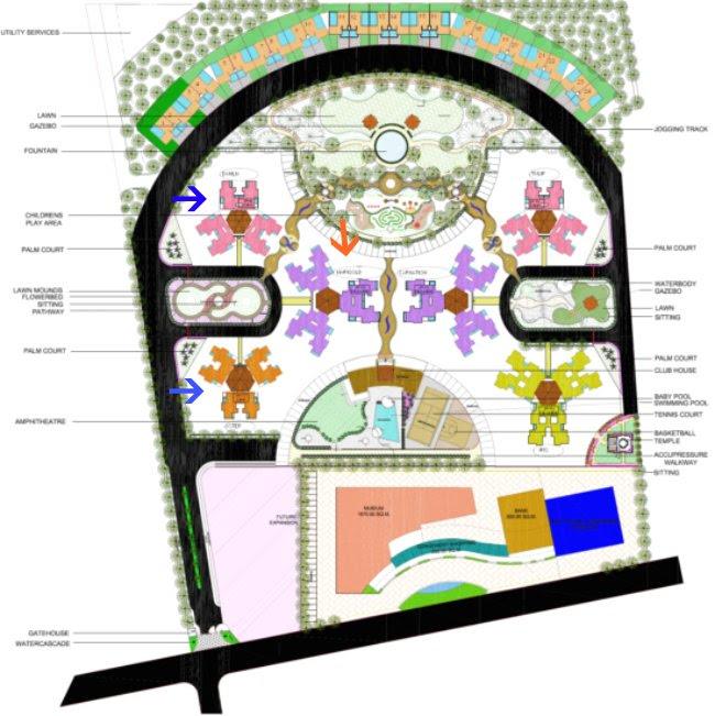 Collina Kanhe - Layout Plan