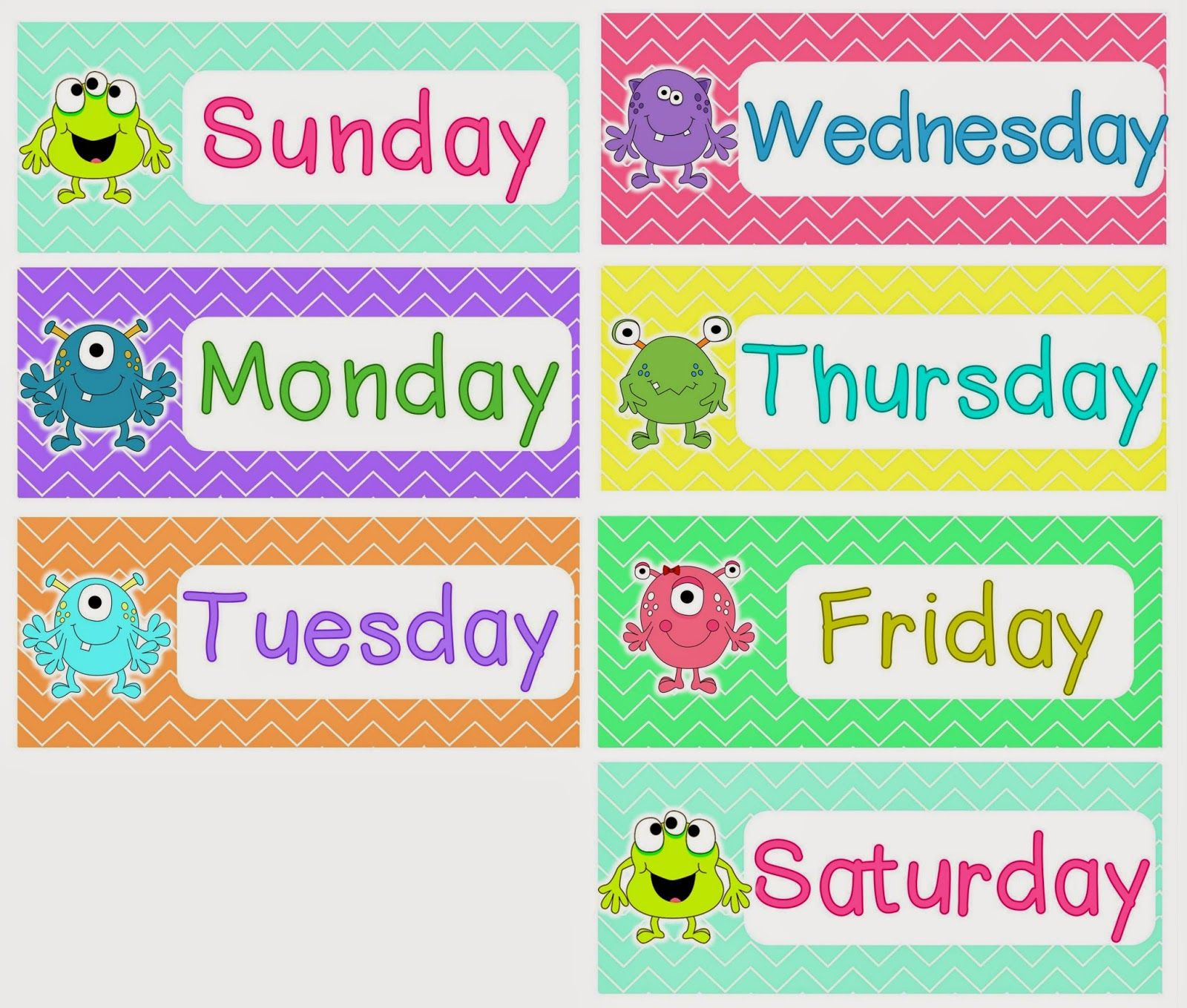 Intrepid image with days of the week printable