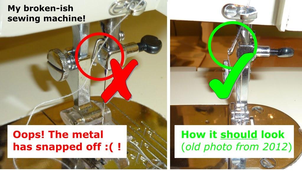 02 Needle Bar Thread Guide - Broken (Jan 2013)