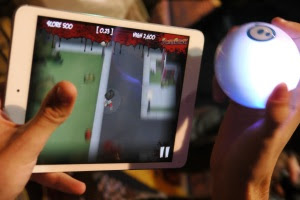 Sphero lets you use its Bluetooth-connected ball as a gaming remote control.