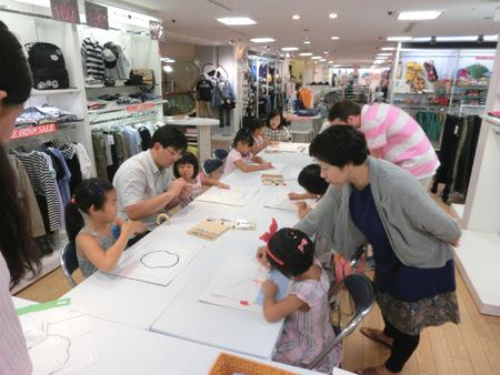 松菱 オリジナルハンカチ作り,ハンカチ作り教室,お子様 ハンカチ,松菱 イベント