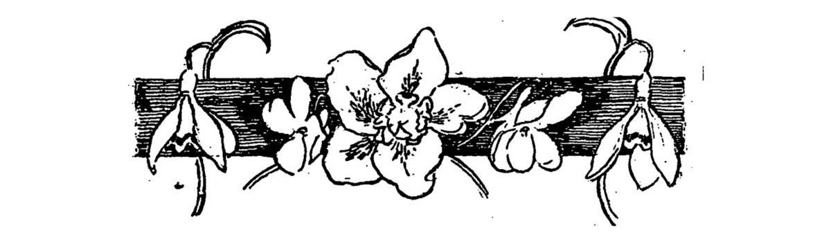 """Claire Demolder, vignette pour la revue """"Le Mercure de France"""", n°112, avril 1899, p.5, pour le texte de  Remy de Gourmont «Du style ou de l'écriture» ; reprise notamment dans le n°119, novembre 1899, p.289 pour «La Bataille pour un mort» d'Hugues Rebell."""
