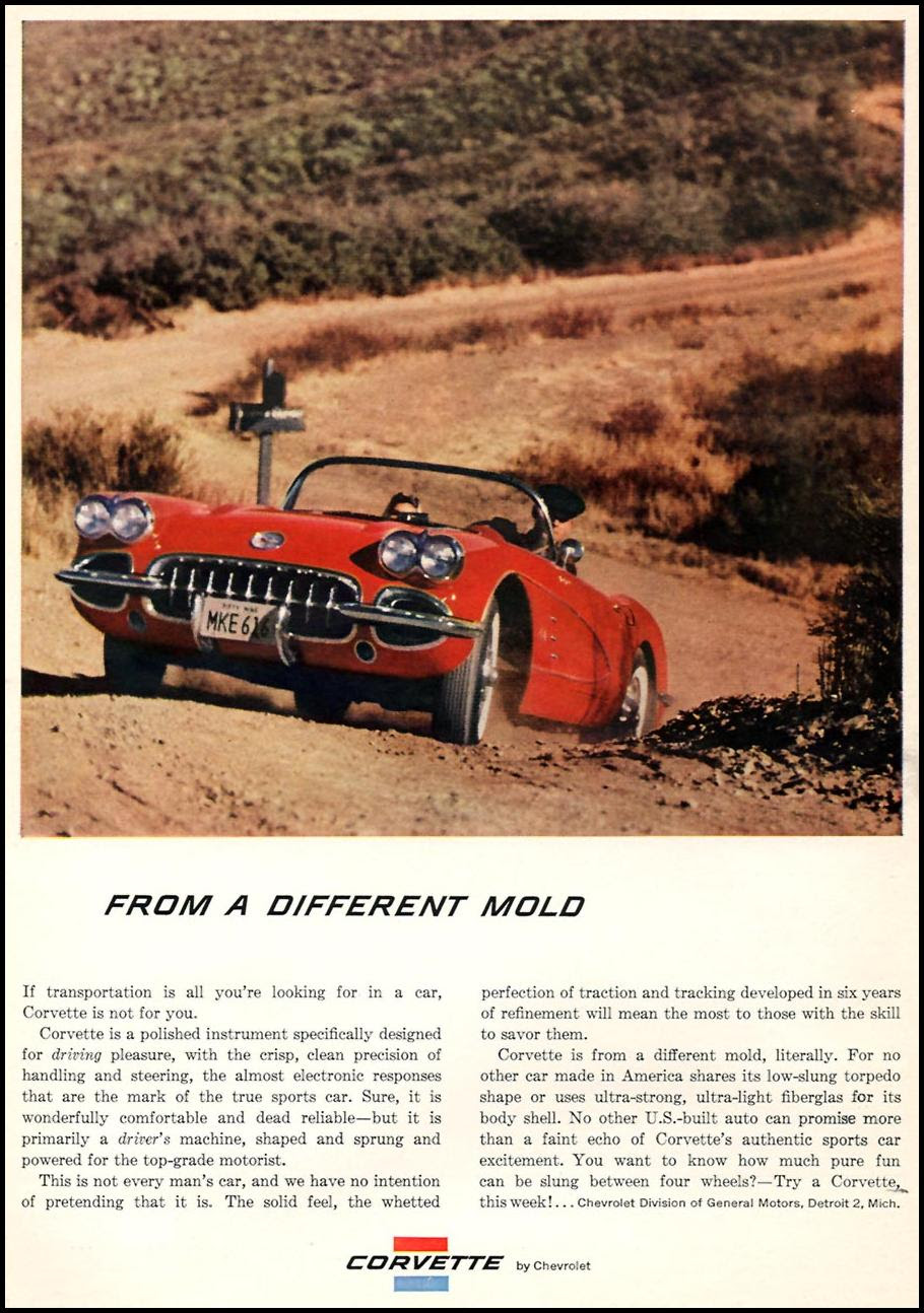CHEVROLET AUTOMOBILES SPORTS ILLUSTRATED 05/25/1959 p. 10