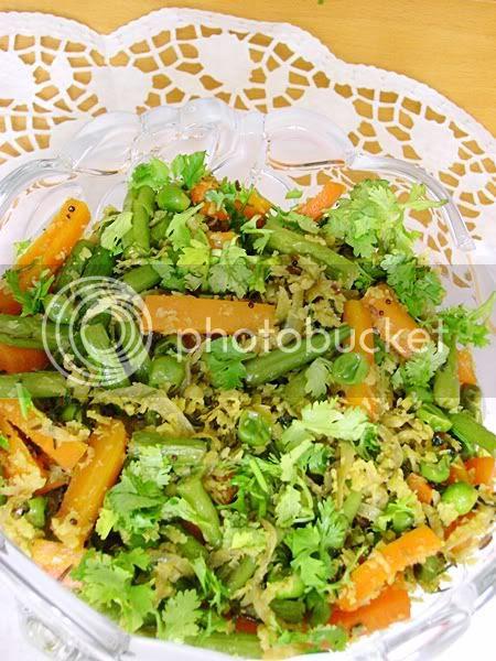Mix vegetable with coconut gravy