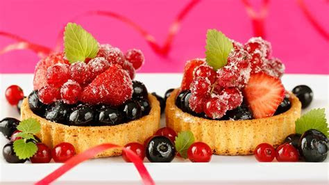 Delicious food, dessert cake, small berries, strawberry