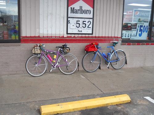 Two rando bikes in Mount Angel