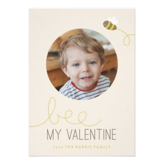 Bee My Valentine A7 Valentine's Day Card