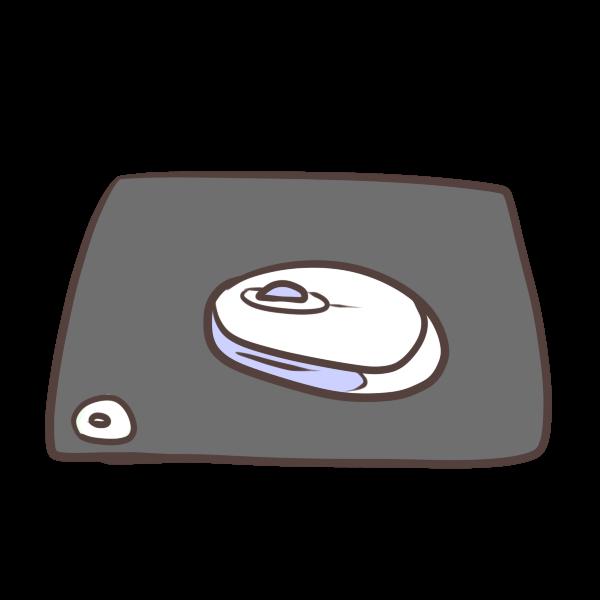 マウスとマウスパッドのイラスト かわいいフリー素材が無料のイラスト