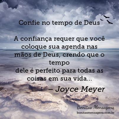 Confie No Tempo De Deus A Confiança Requer Que Você Coloque Sua