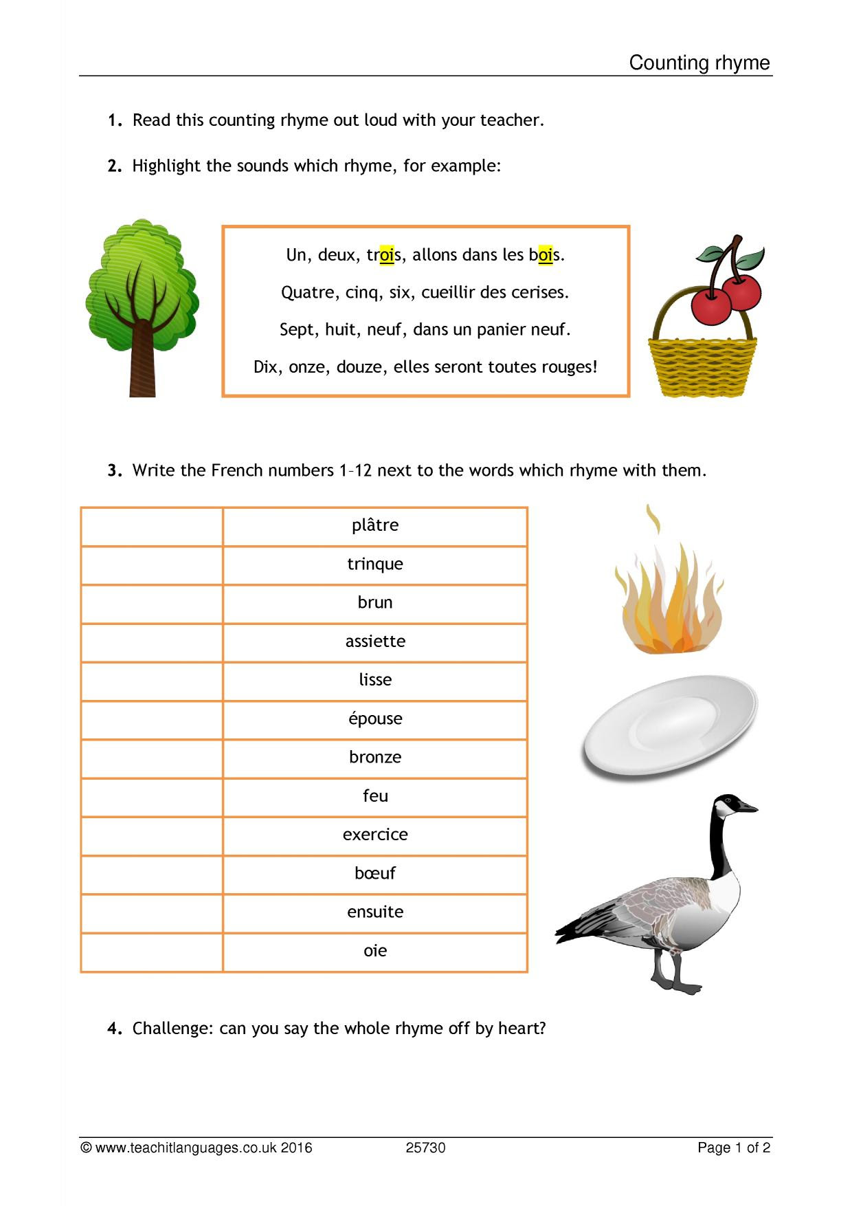 French Reading Prehension Worksheets Ks3 Fact Or