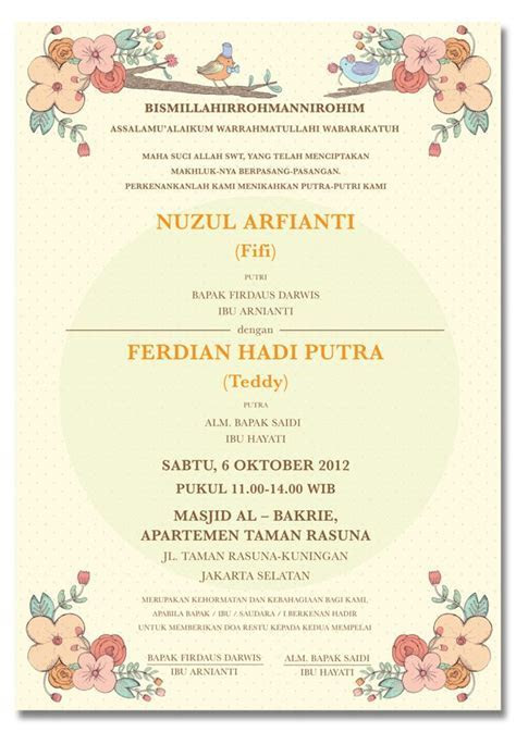 Konsep Undangan Pernikahan Indonesia   Fifi & Teddy