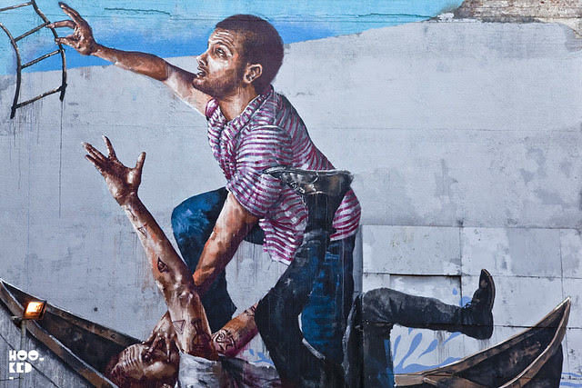 Street Artist Fintan Magee New London Mural