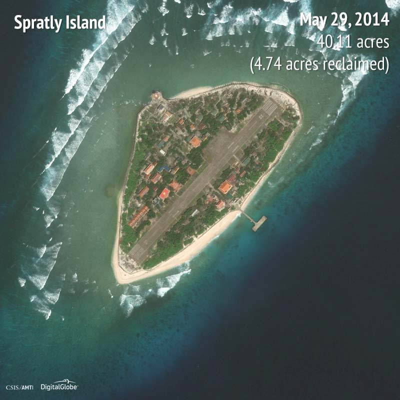 Spratly Island 2014 | 4.74 acres reclaimed