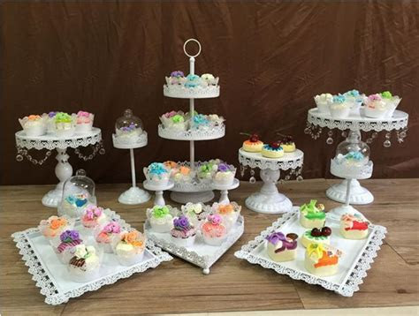 12pcs/set white cake stands wedding cupcake stand cake