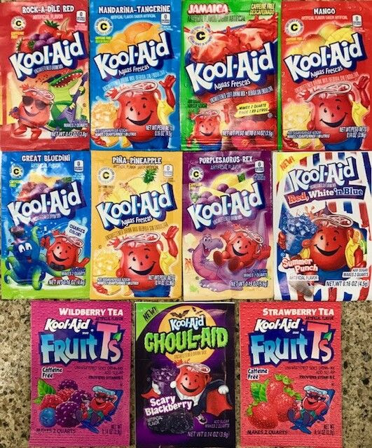 Kool-Aid Drink Mix Set of 12 Extremely Rare Gluten Free ...