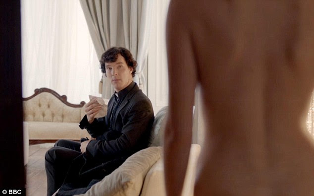 Life imitating fiction: Benedict and Lara in BBC1's Sherlock