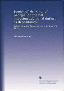 speech   king  georgia   bill imposing